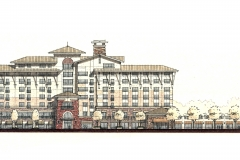 Hotel Blue Conceptual Elevation