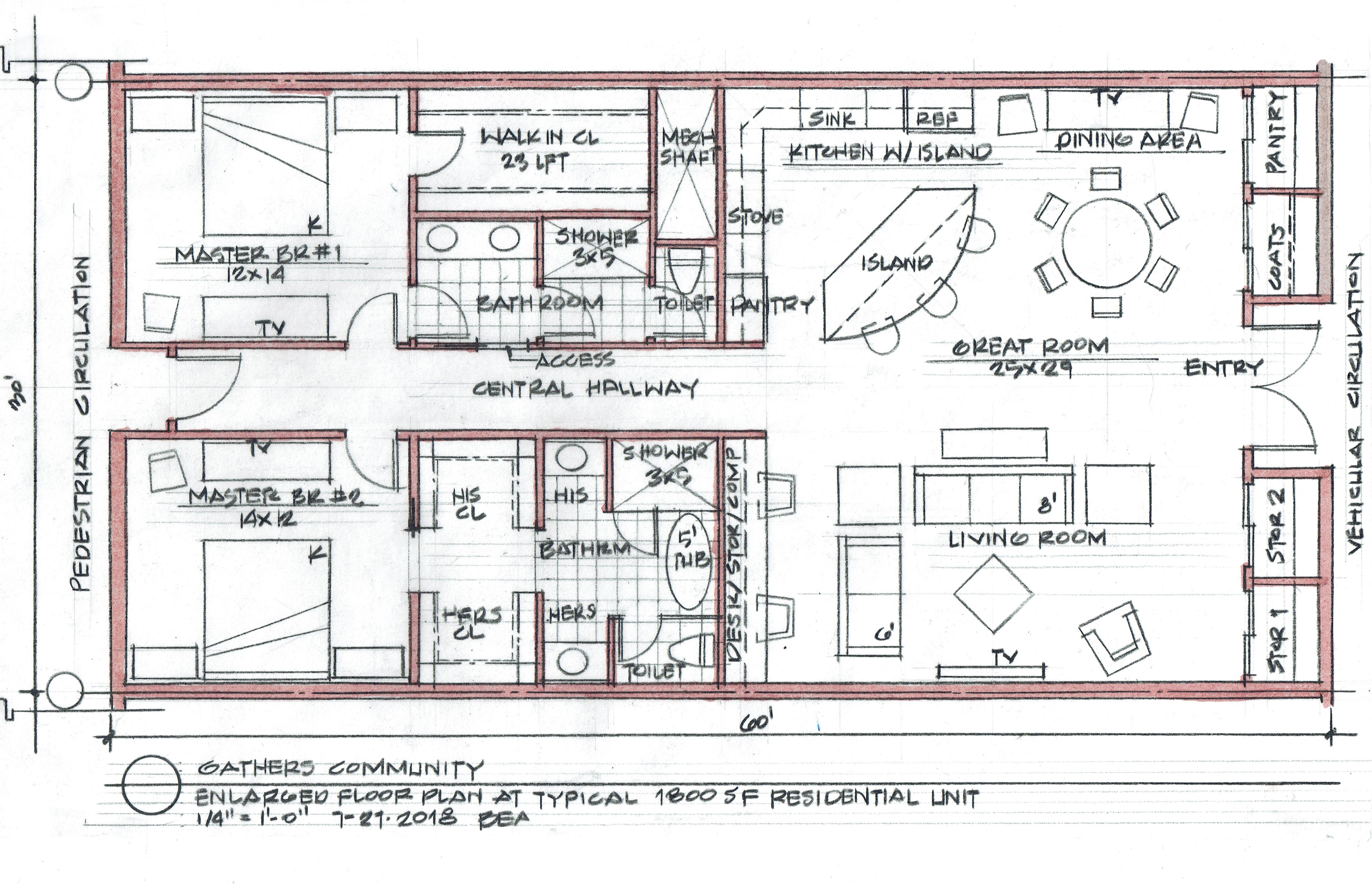 Unity City Unit plans