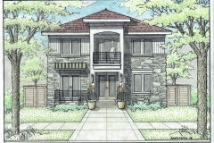 1655 S Cook Rendered front elevation (1)